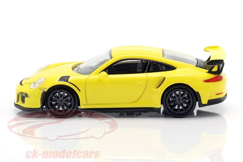 Porsche 911 GT3 RS anno di costruzione 2015 giallo 1:87 Minichamps