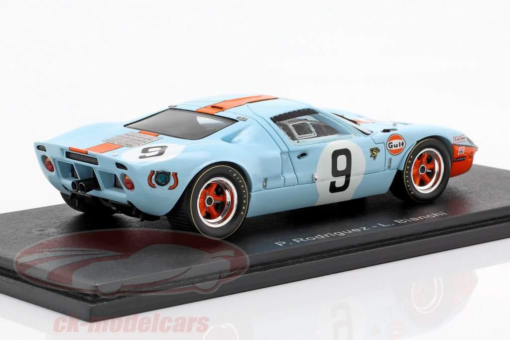 Ford GT 40 Gulf #9 gagnant 24h LeMans 1968 Rodriguez, Bianchi 1:43 Spark
