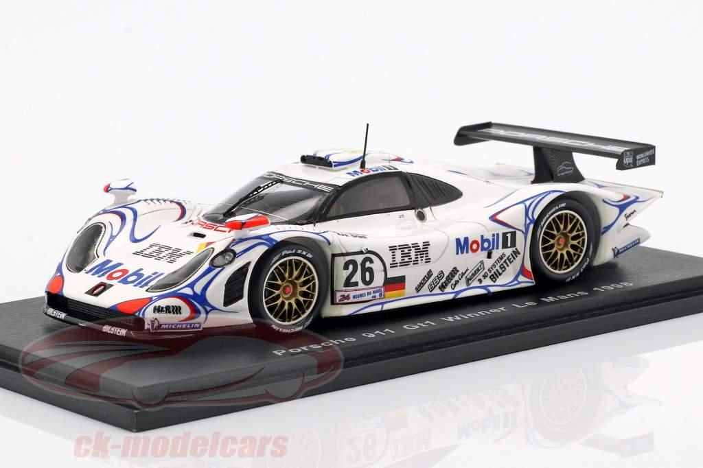 Porsche 911 GT1 #26 vincitore 24h LeMans 1998 McNish, Aiello, Ortelli 1:43 Spark