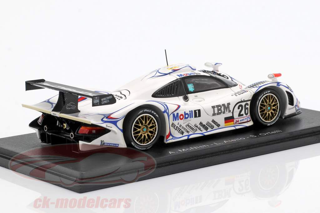 Porsche 911 GT1 #26 Vinder 24h LeMans 1998 McNish, Aiello, Ortelli 1:43 Spark