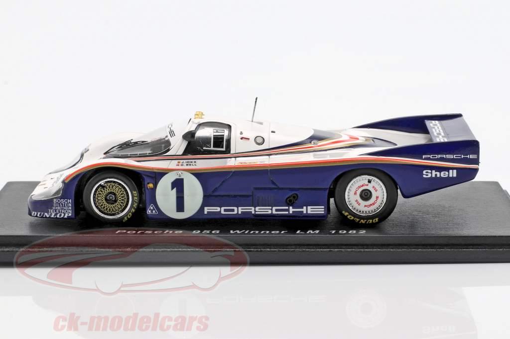 Porsche 956 #1 ganador 24h LeMans 1982 Ickx, Bell 1:43 Spark