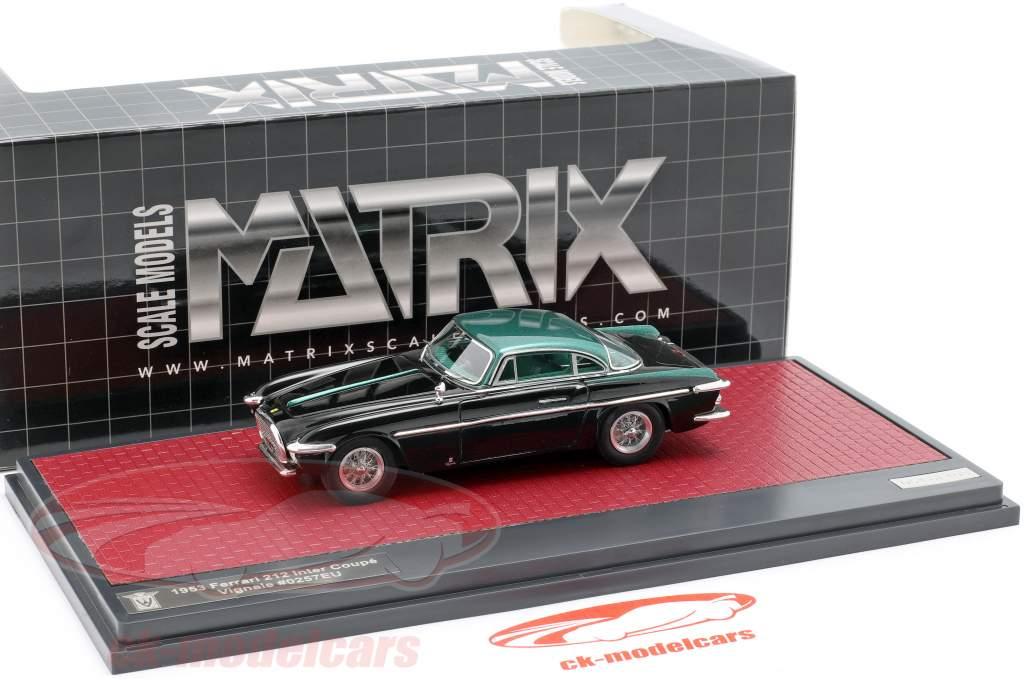 Ferrari 212 Inter Coupe Vignale Baujahr 1953 schwarz / grün metallic 1:43 Matrix