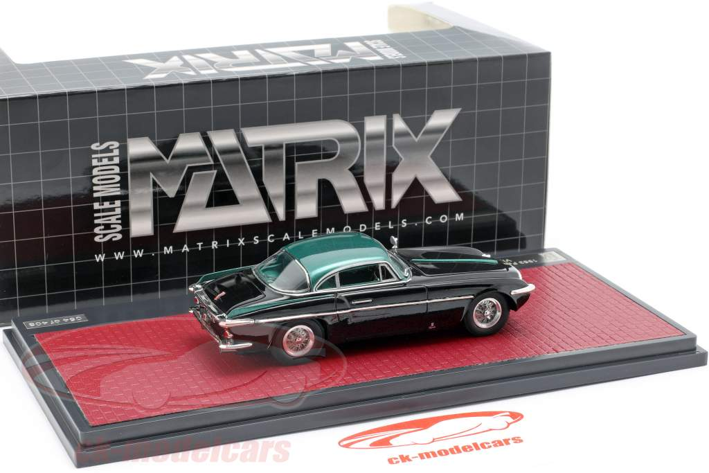 Ferrari 212 Inter Coupe Vignale année de construction 1953 noir / vert métallique 1:43 Matrix