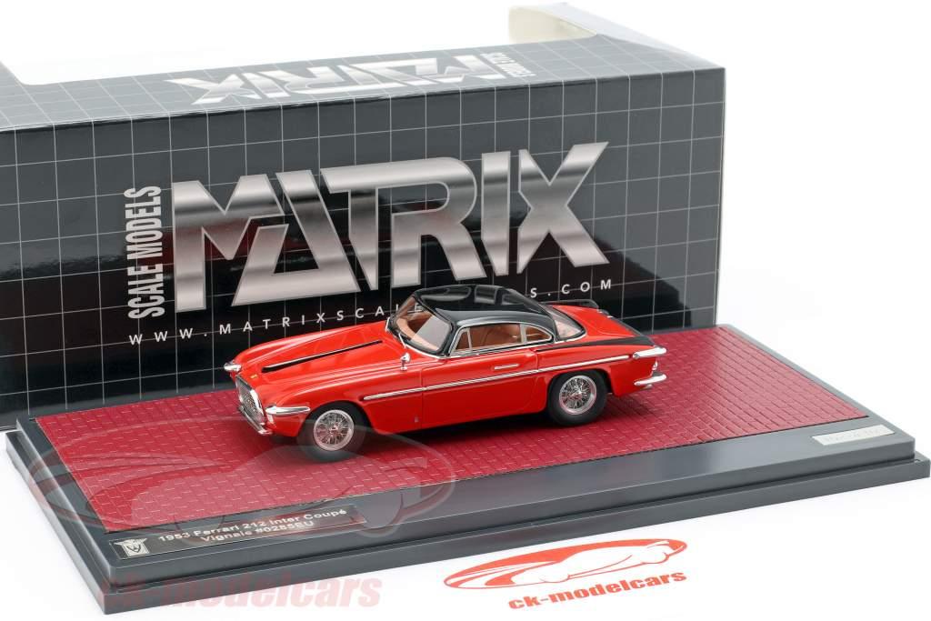 Ferrari 212 Inter Coupe Vignale année de construction 1953 rouge / noir 1:43 Matrix