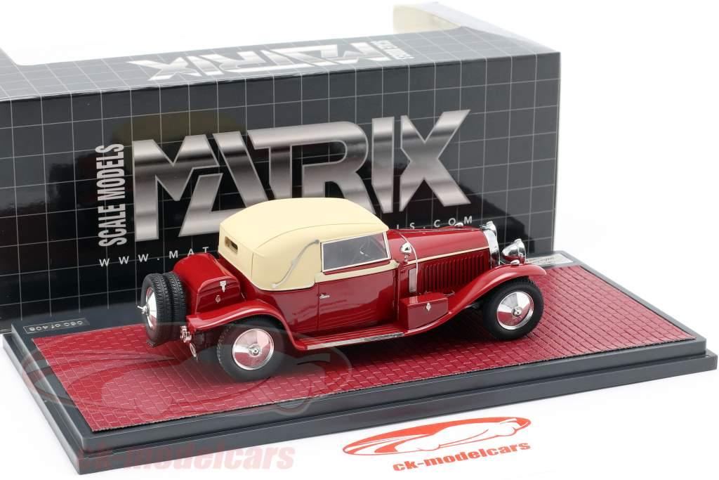 Bugatti tipo 46 Faux cabriolé Veth & Zoon año de construcción 1930 rojo / beige 1:43 Matrix