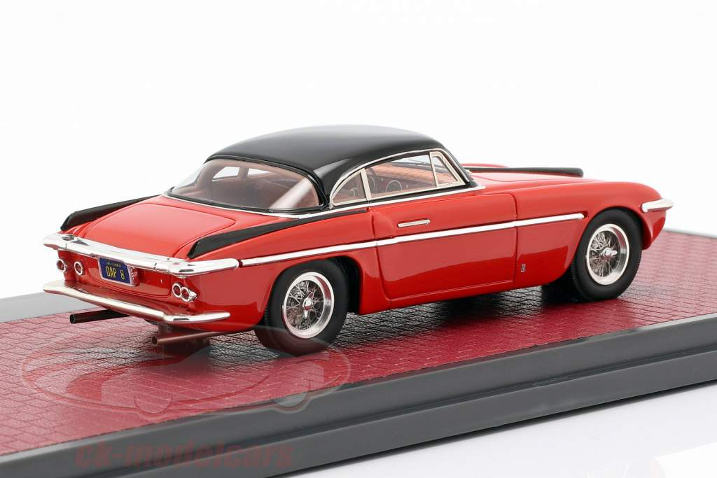Ferrari 212 Inter Coupe Vignale Opførselsår 1953 rød / sort 1:43 Matrix
