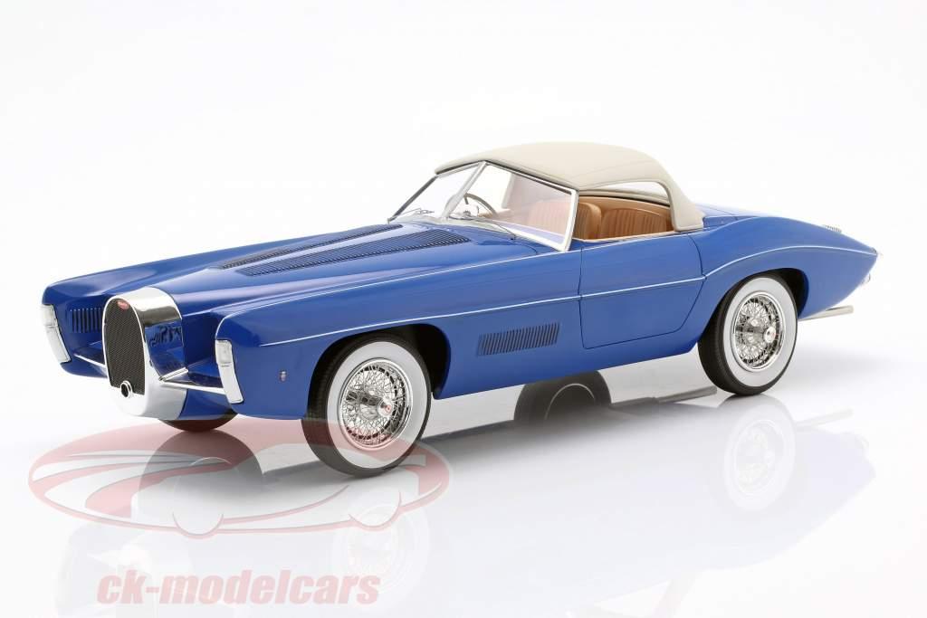 Bugatti T101C Exner-Ghia Closed Top Bouwjaar 1966 blauw 1:18 Matrix