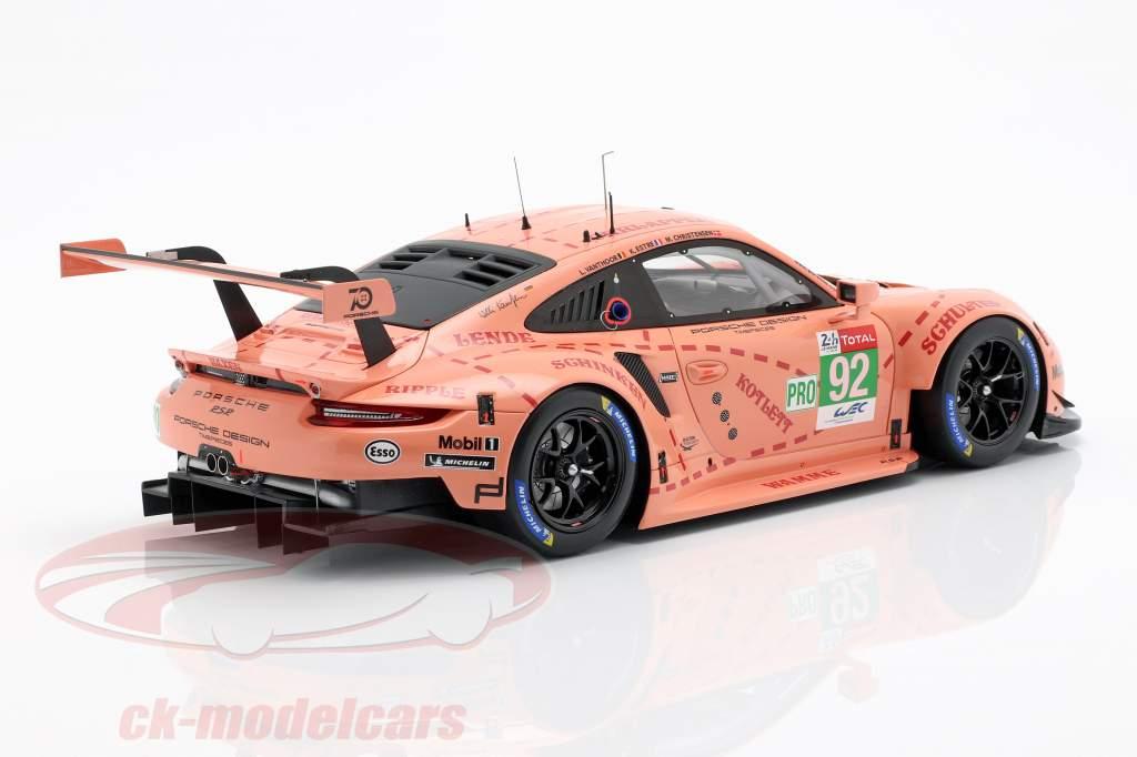 Porsche 911 (991) RSR #92 Class Winner LMGTE-Pro 24h LeMans 2018 1:18 Spark
