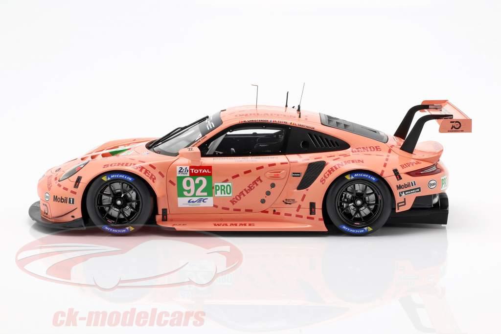 Porsche 911 (991) RSR #92 klasse Vinder LMGTE-Pro 24h LeMans 2018 1:18 Spark