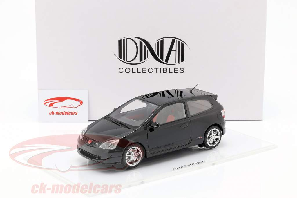 Honda Civic Type R EP3 year 2004 black 1:18 DNA Collectibles