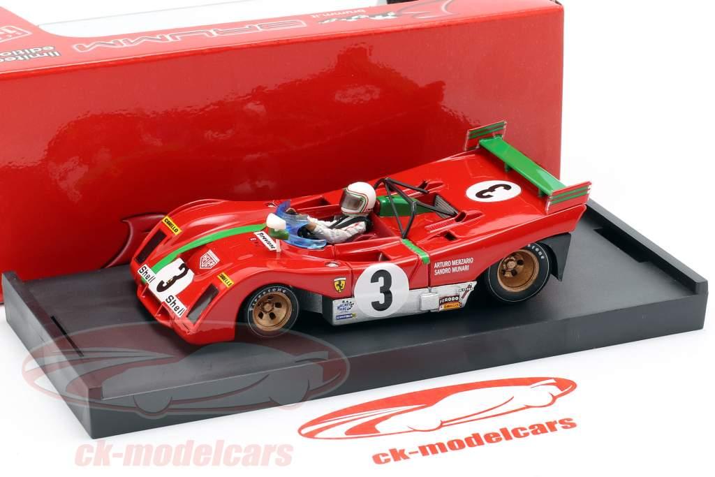 Ferrari 312 PB #3 Vinder Targa Florio 1972 Sandro Munari 1:43 Brumm