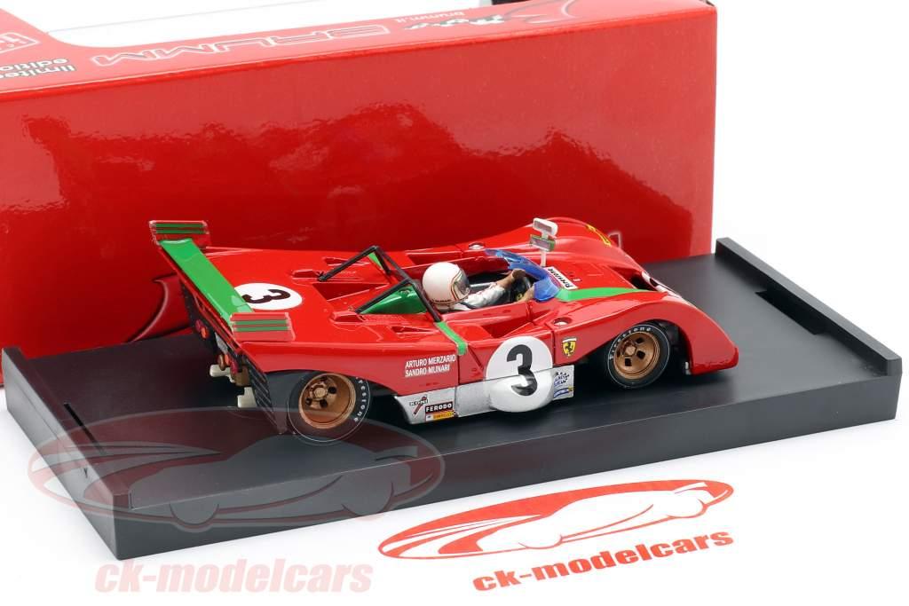 Ferrari 312 PB #3 ganador Targa Florio 1972 Sandro Munari 1:43 Brumm