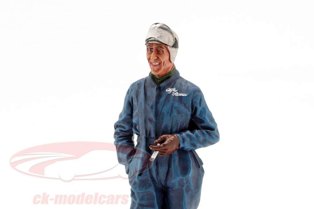 Tazio Nuvolari vinder 24h LeMans 1933 figur 1:18 LeMansMiniatures