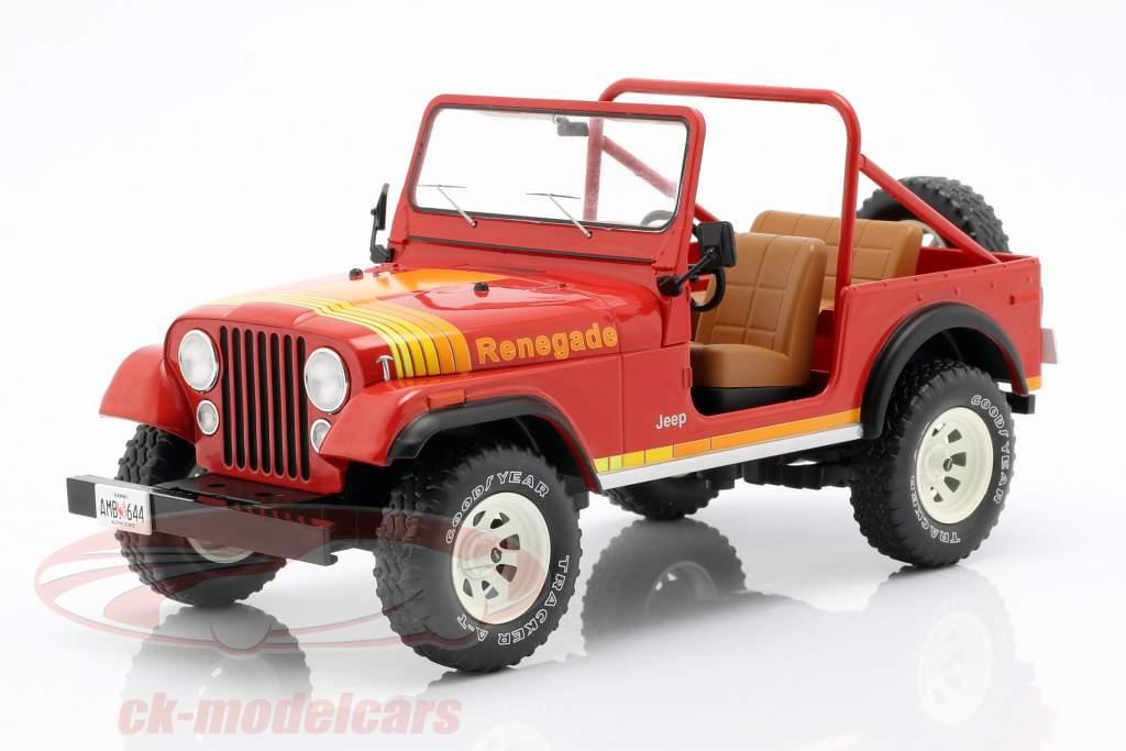 Jeep CJ-7 Renegade Opførselsår 1976 rød 1:18 Model Car Group