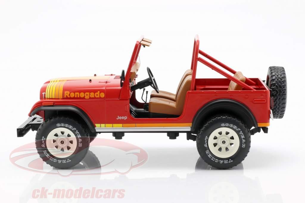 Jeep CJ-7 Renegade Bouwjaar 1976 rood 1:18 Model Car Group