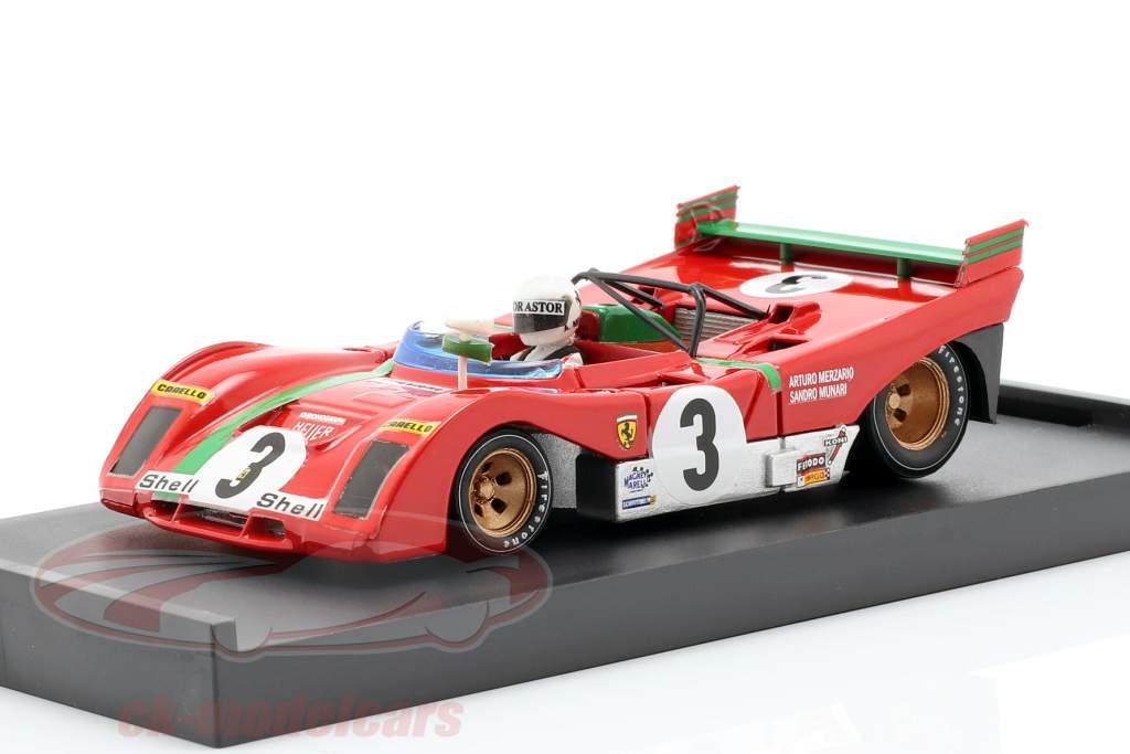 Ferrari 312 PB #3 Vinder Targa Florio 1972 Arturo Merzario 1:43 Brumm