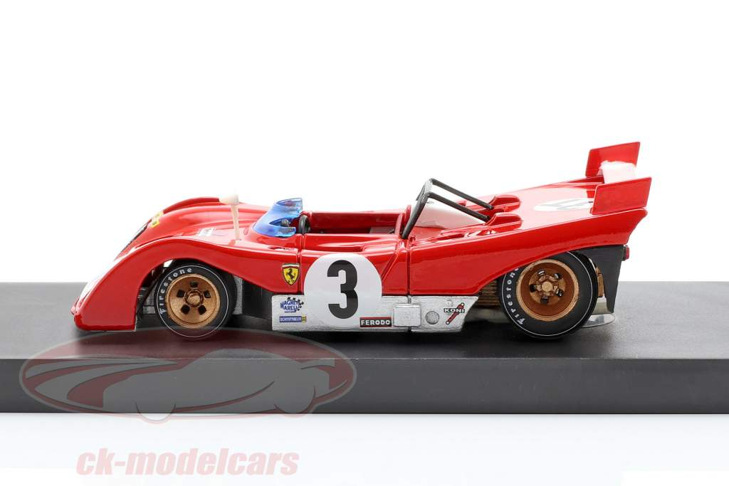 Ferrari 312PB #3T winnaar Targa Florio 1972 Testcar Merzario, Munari 1:43 Brumm