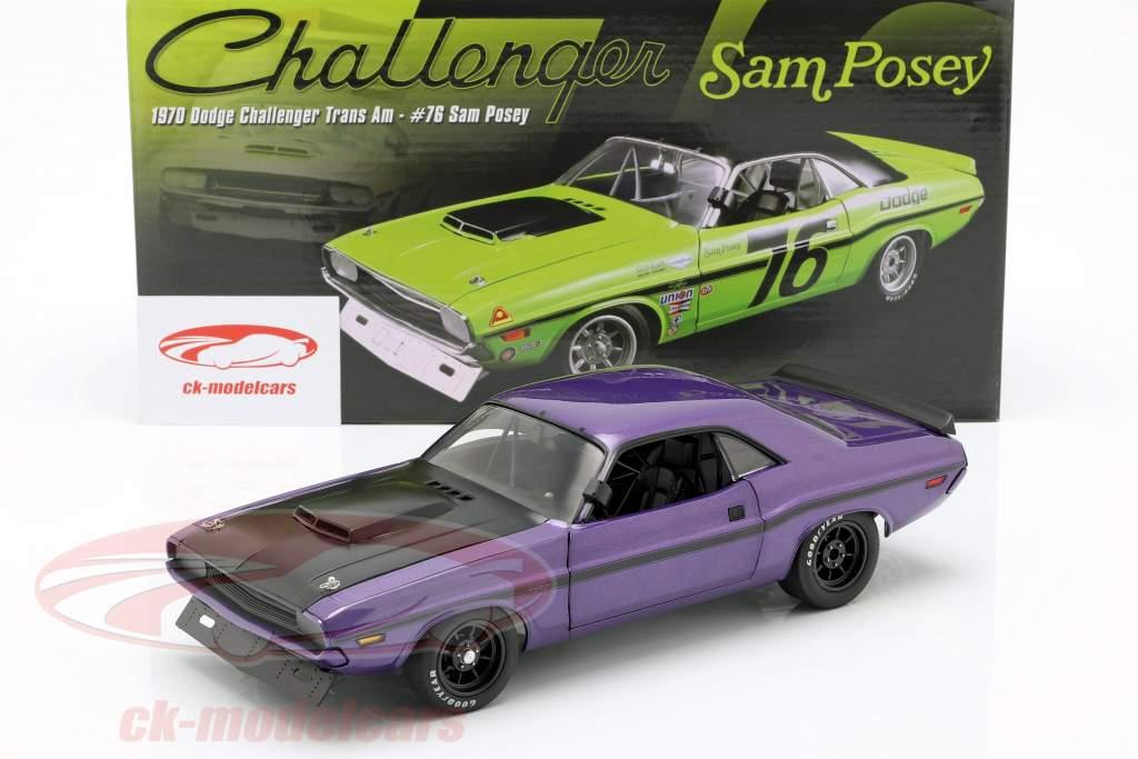 Dodge Challenger Opførselsår 1970 violet 1:18