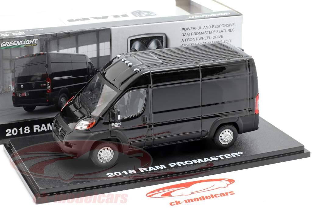 RAM ProMaster 2500 Cargo year 2018 brilliant black 1:43 Greenlight