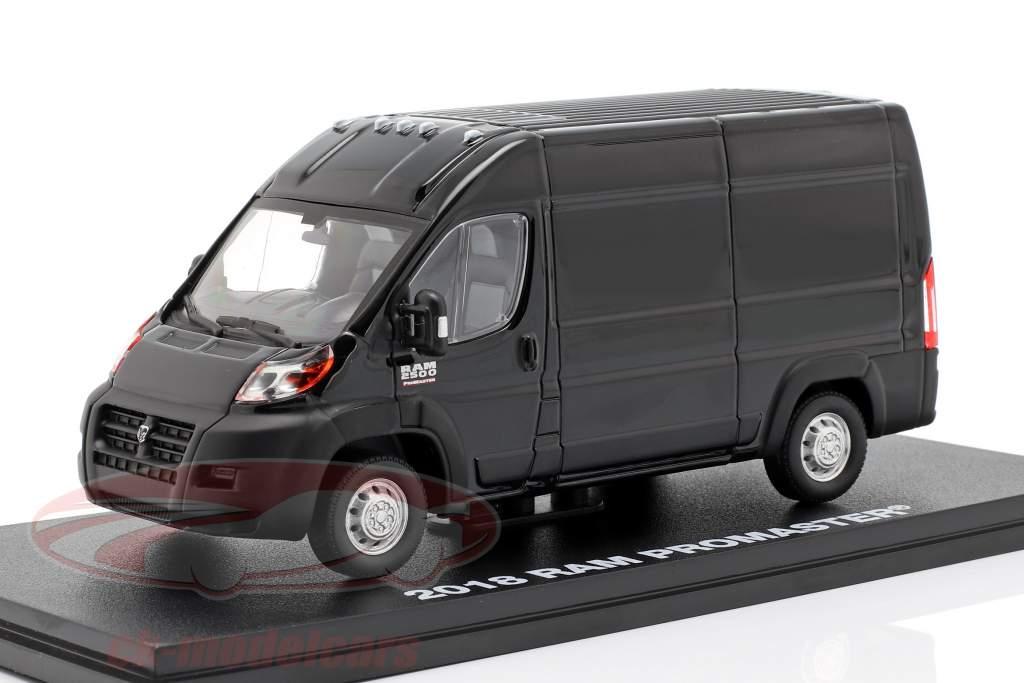 RAM ProMaster 2500 Cargo Bouwjaar 2018 briljant zwart 1:43 Greenlight