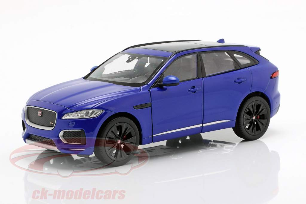 Jaguar F-Pace Opførselsår 2016 blå 1:24 Welly