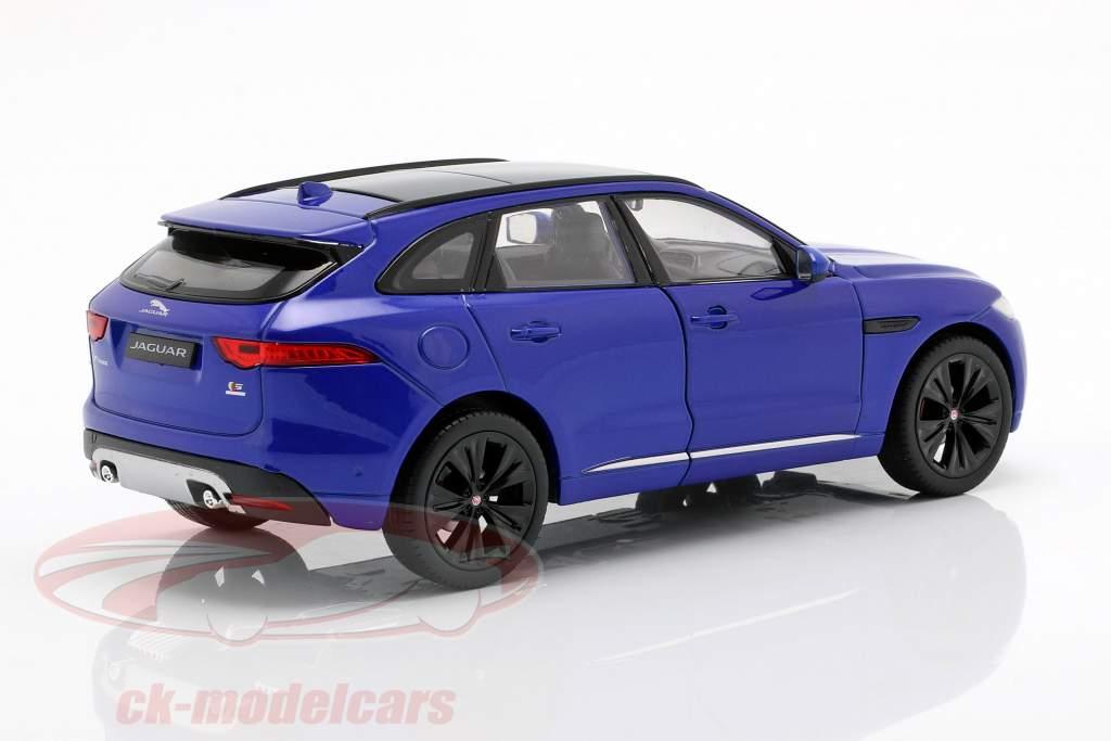 Jaguar F-Pace año de construcción 2016 azul 1:24 Welly