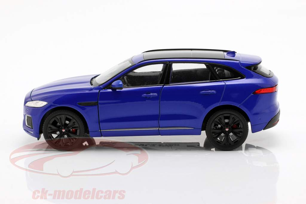 Jaguar F-Pace year 2016 blue 1:24 Welly