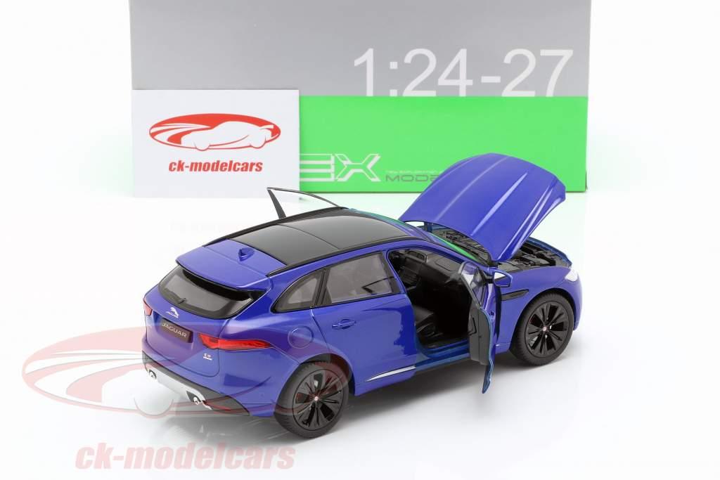 Jaguar F-Pace année de construction 2016 bleu 1:24 Welly