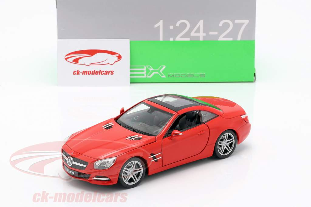 Mercedes-Benz SL 500 year 2012 red 1:24 Welly