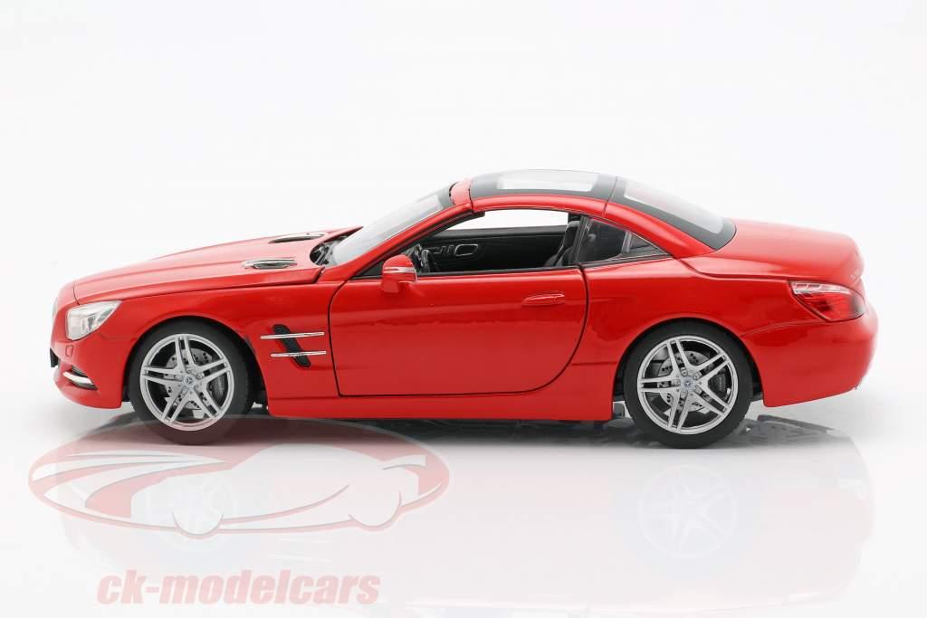 Mercedes-Benz SL 500 ano de construção 2012 vermelho 1:24 Welly