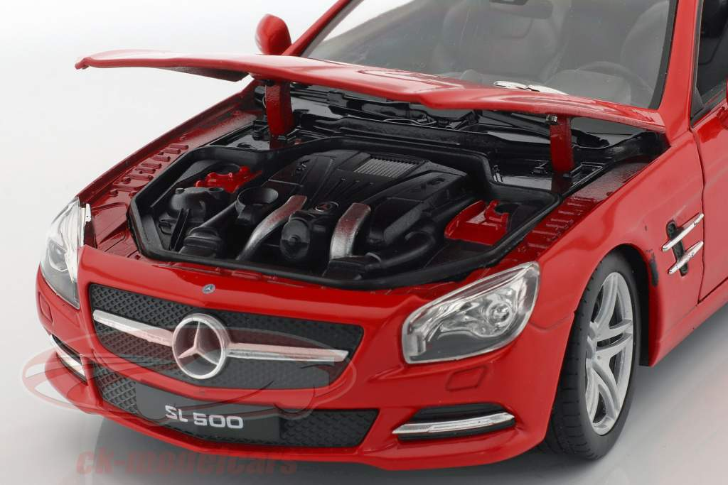 Mercedes-Benz SL 500 año de construcción 2012 rojo 1:24 Welly