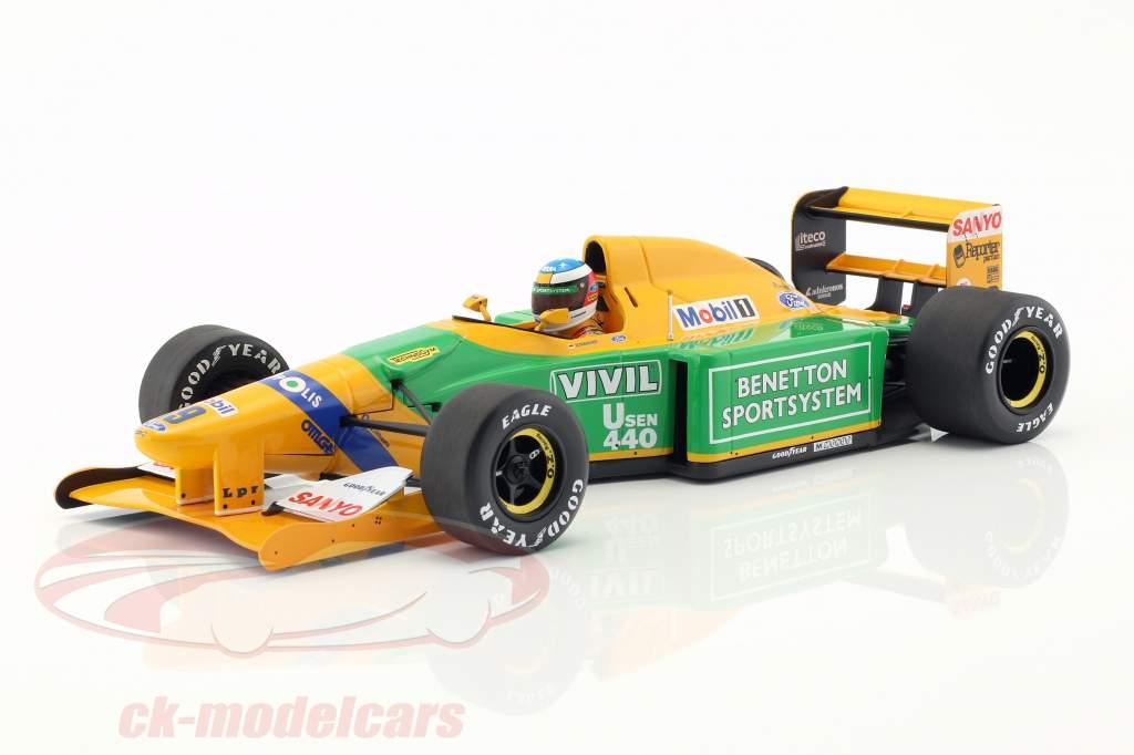 Michael Schumacher Benetton B192 #19 3. Italien GP F1 1992 1:18 Minichamps