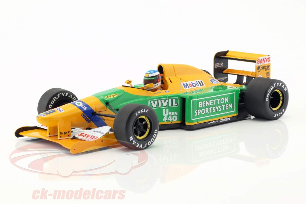 Michael Schumacher Benetton B192 #19 tercero Italia GP F1 1992 1:18 Minichamps