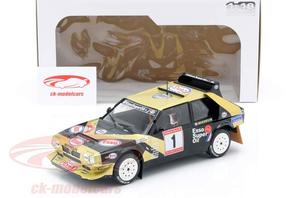 Lancia Delta S4 #1 ganador Rallye de Asturias 1986 Tabaton, Tedeschini 1:18 Solido