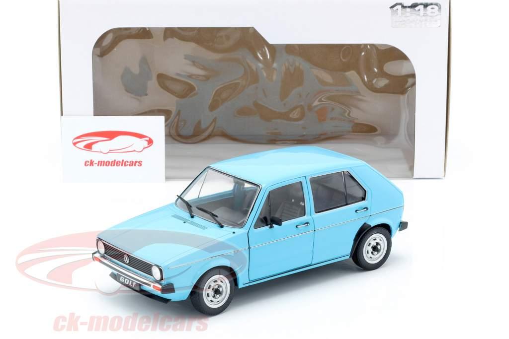 Volkswagen VW Golf I année de construction 1983 bleu clair 1:18 Solido
