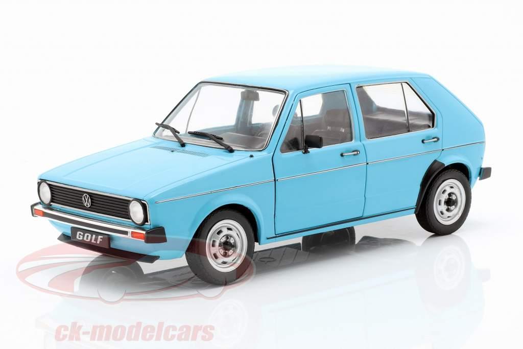 Volkswagen VW Golf I Bouwjaar 1983 lichtblauw 1:18 Solido