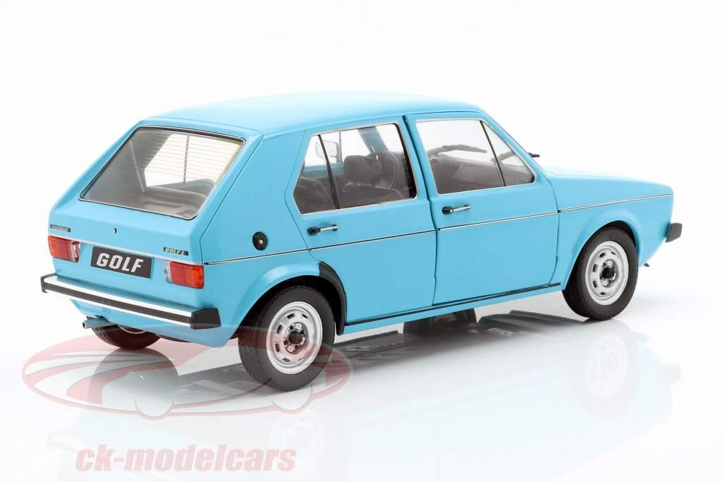 Volkswagen VW Golf I anno di costruzione 1983 azzurro 1:18 Solido