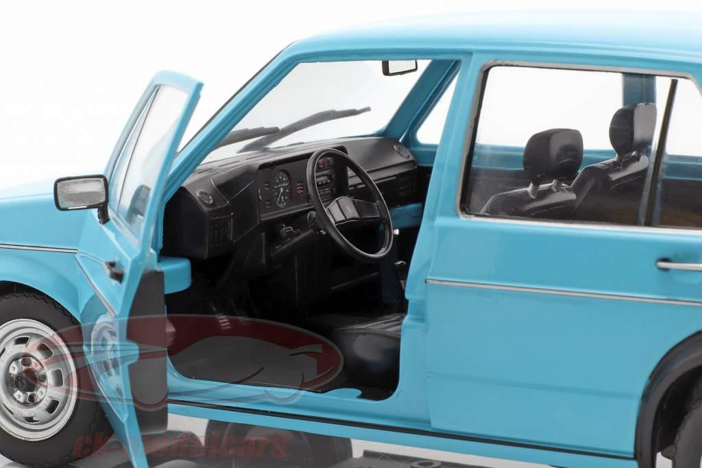 Volkswagen VW Golf I Opførselsår 1983 lyseblå 1:18 Solido