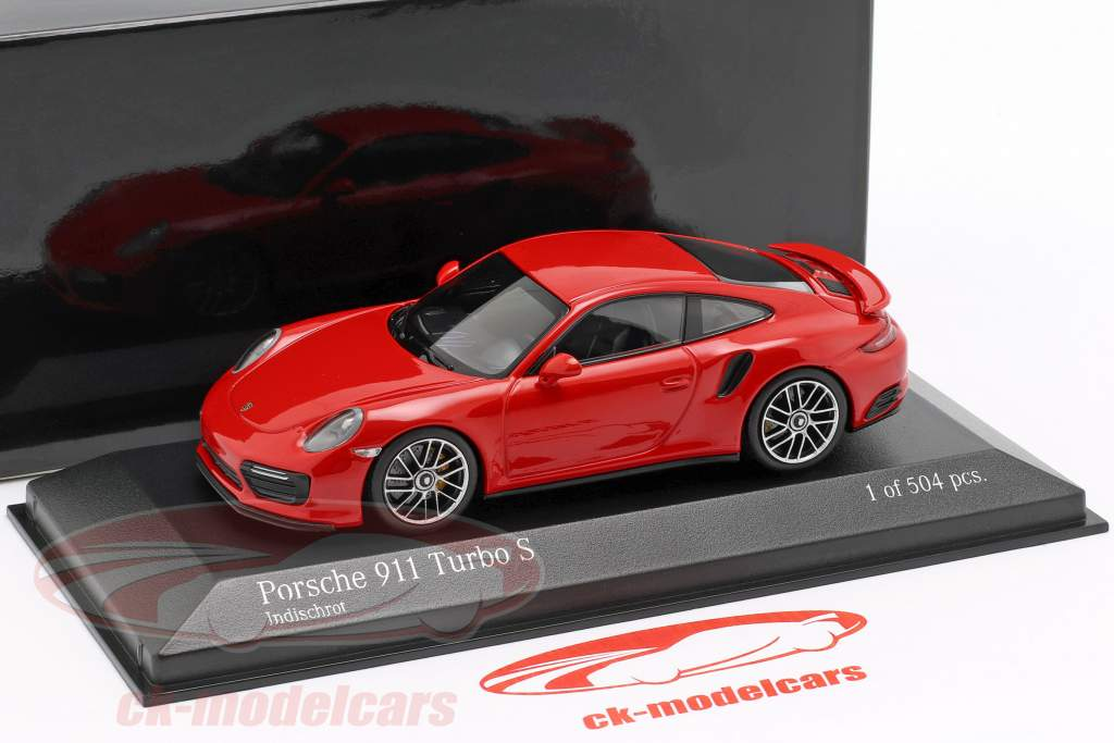 Porsche 911 (991 II) Turbo S year 2016 guards red 1:43 Minichamps