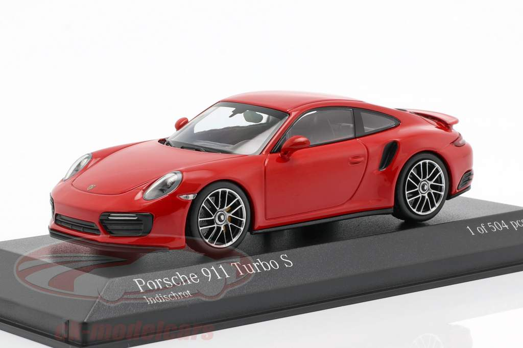 Porsche 911 (991 II) Turbo S année de construction 2016 gardes rouge 1:43 Minichamps