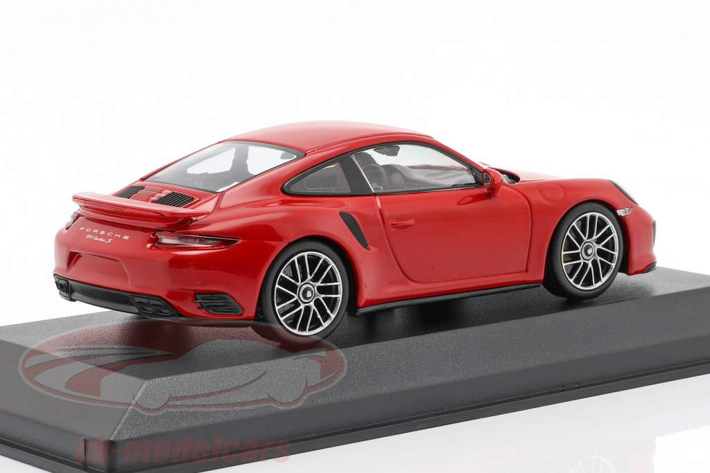 Porsche 911 (991 II) Turbo S ano de construção 2016 guardas vermelho 1:43 Minichamps