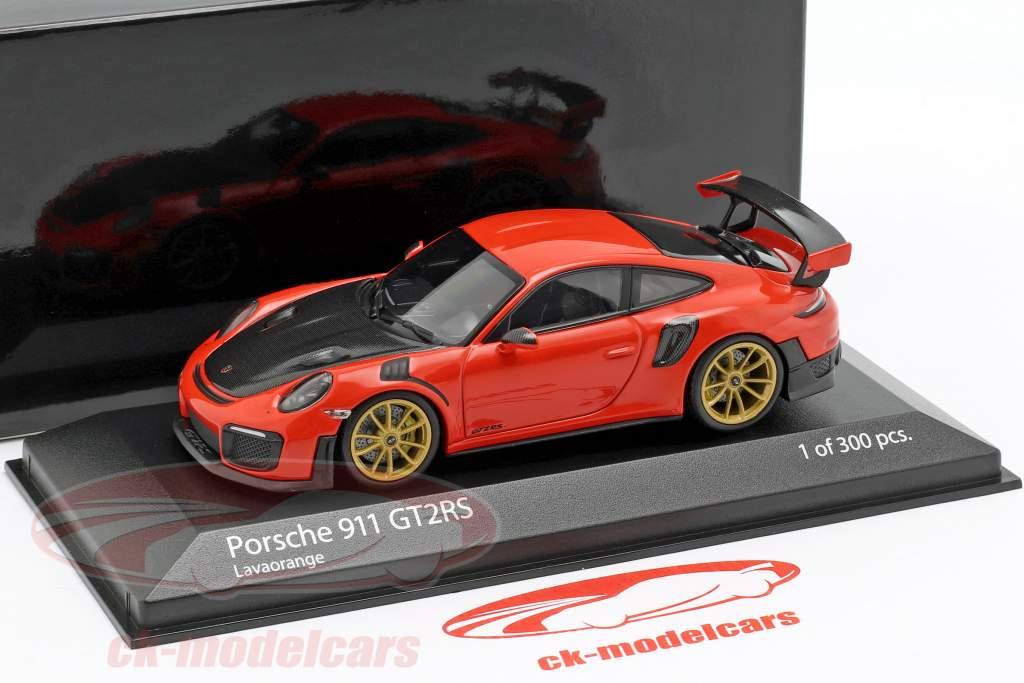 Porsche 911 (991 II) GT2 RS anno di costruzione 2018 lava arancione 1:43 Minichamps