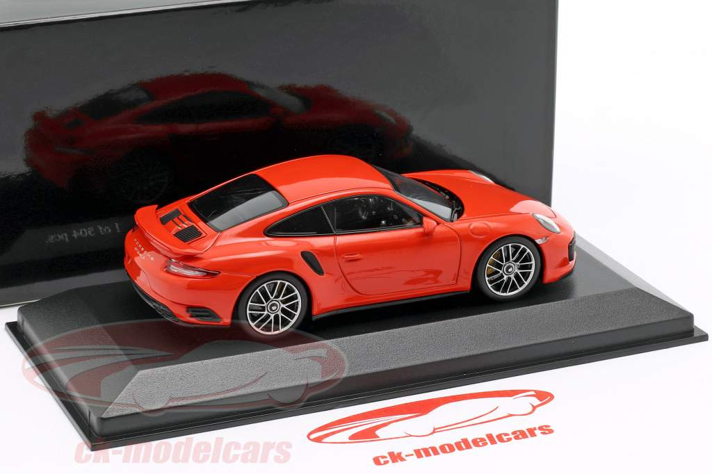 Porsche 911 (991 II) Turbo S année de construction 2016 lave orange 1:43 Minichamps