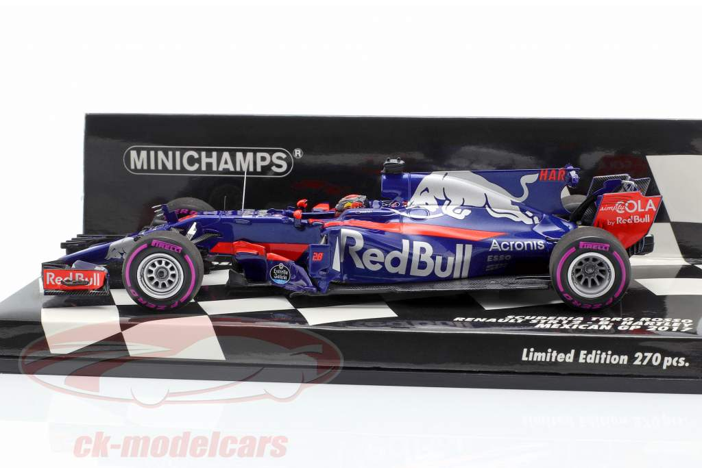 Brendon Hartley Toro Rosso STR12 #28 mexicano GP fórmula 1 2017 1:43 Minichamps