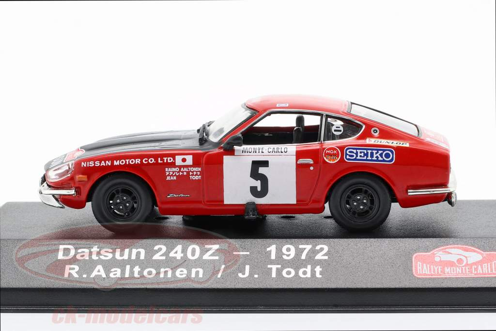 Datsun 240Z #5 3rd Rallye Monte Carlo 1972 Aaltonen, Todt 1:43 Atlas