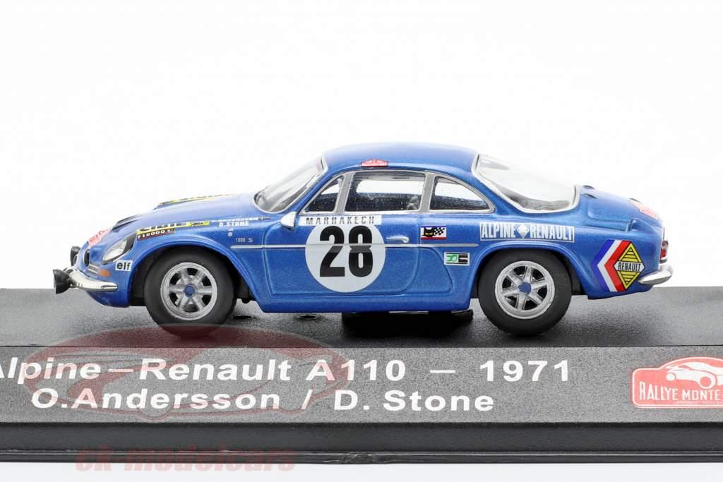Alpine-Renault A1100 1600 #28 gagnant Rallye Monte Carlo 1971 Andersson, Stone 1:43 Atlas