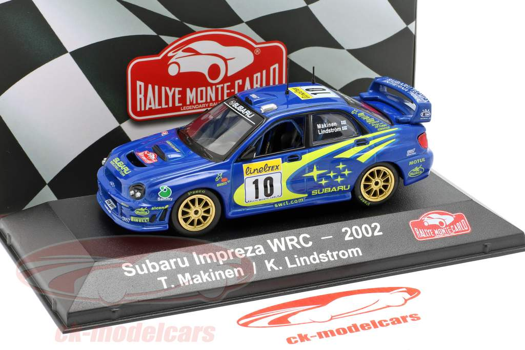 Subaru Impreza WRC #10 vencedor Rallye Monte Carlo 2002 Mäkinen, Lindström 1:43 Atlas