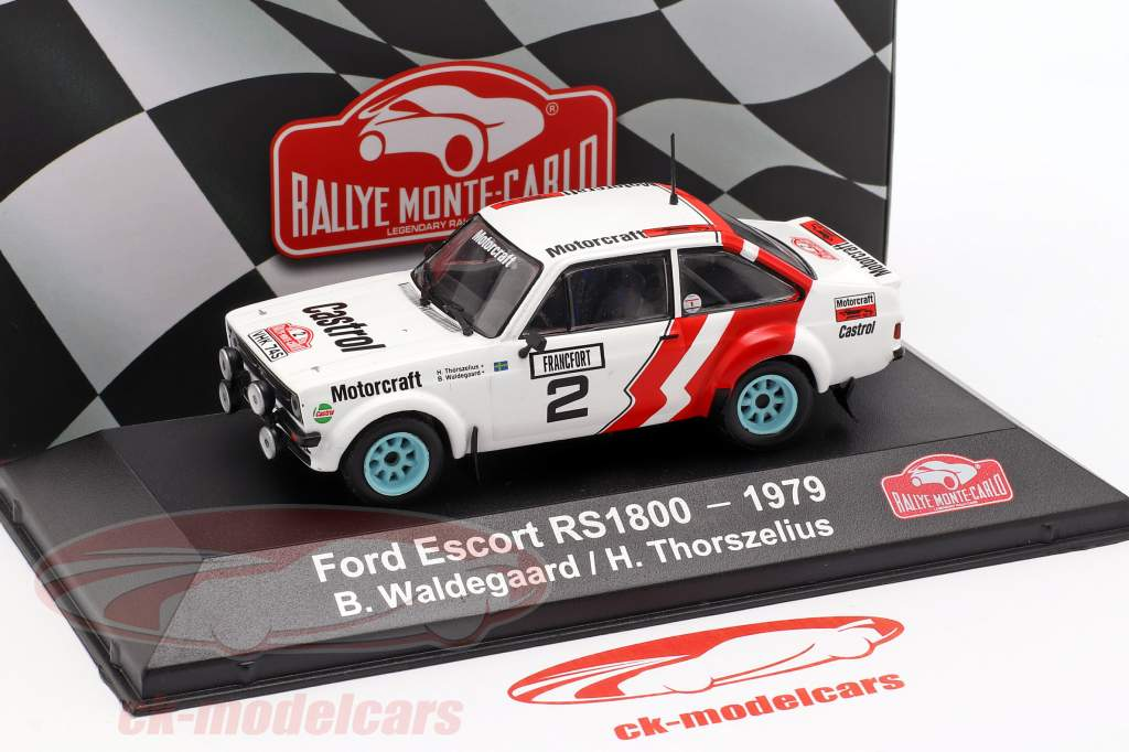 Ford Escort RS 1800 #2 segundo Rallye Monte Carlo 1979 Waldegard, Thorszelius 1:43 Atlas