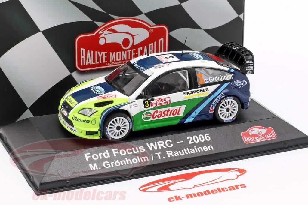 Ford Focus RS WRC 06 #3 Vinder Rallye Monte Carlo 2006 Grönholm, Rautiainen 1:43 Atlas