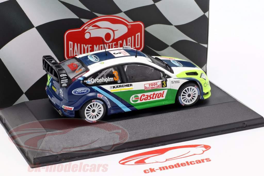 Ford Focus RS WRC 06 #3 winnaar Rallye Monte Carlo 2006 Grönholm, Rautiainen 1:43 Atlas